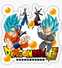 Dragon Ball Super Goku Beerus Vegeta Whis  Sticker