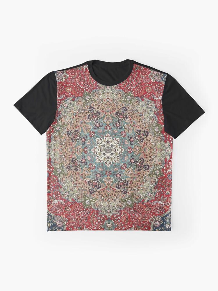 Vista alternativa de Camiseta gráfica Alfombra persa antigua de la vendimia