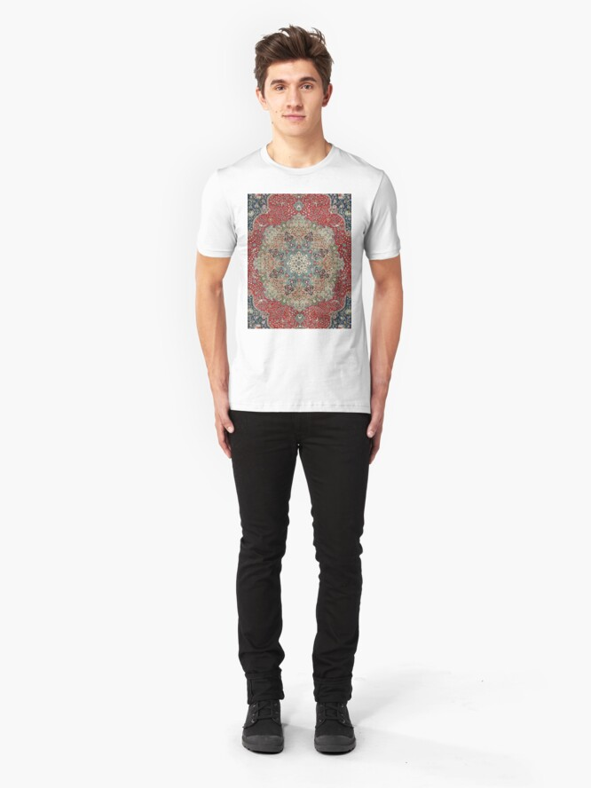 Vista alternativa de Camiseta ajustada Alfombra persa antigua de la vendimia