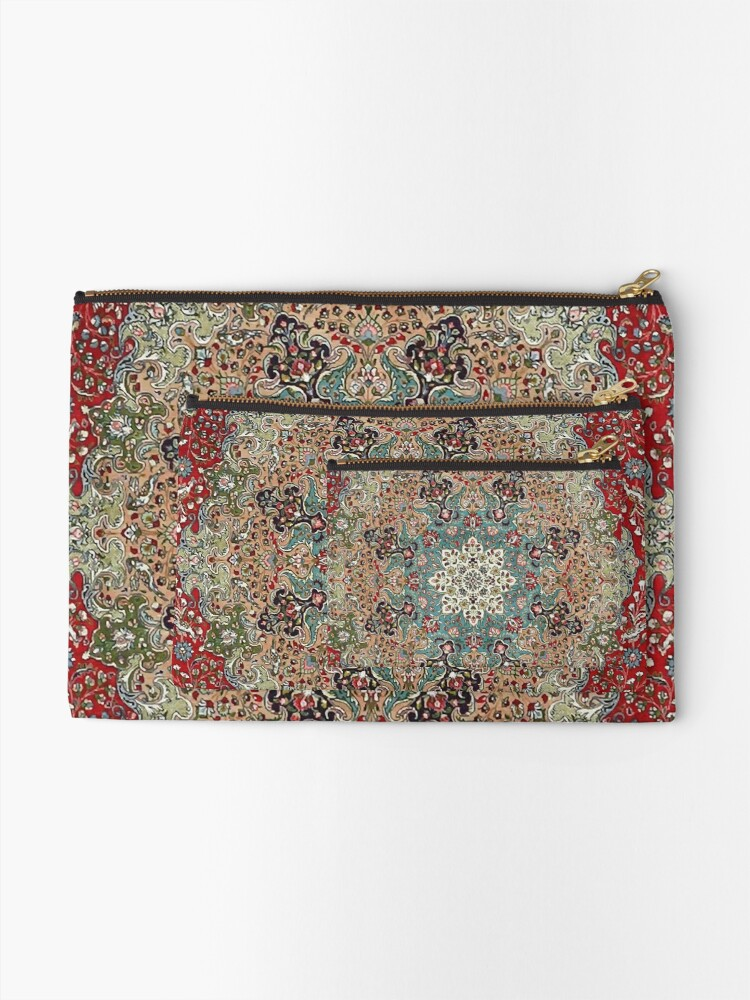 Alternate view of Vintage Antique Persian Carpet Print Zipper Pouch