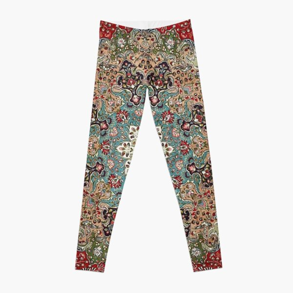 Vintage Antique Persian Carpet Print Leggings