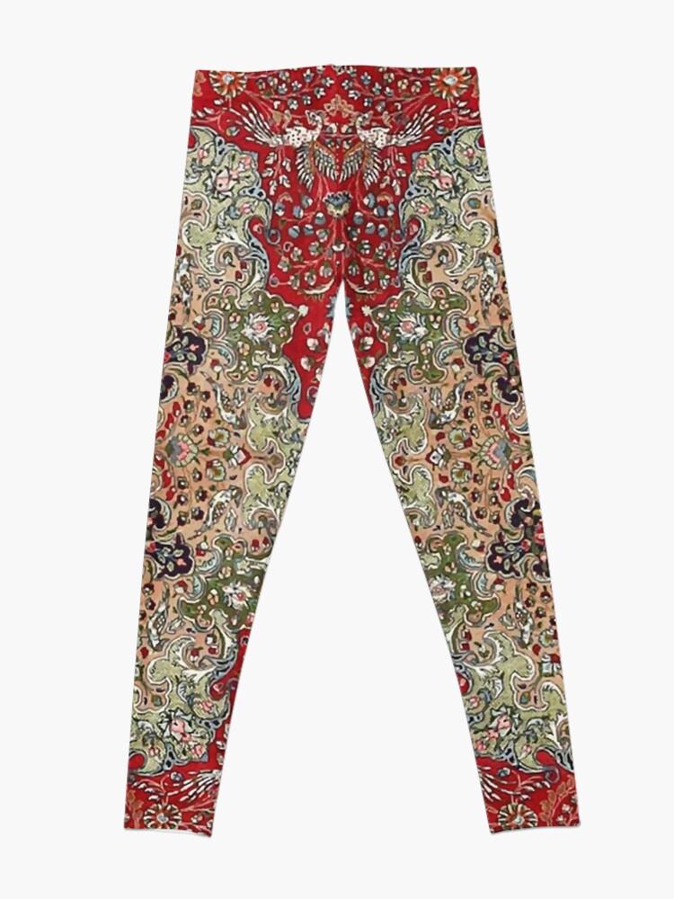 Alternate view of Vintage Antique Persian Carpet Print Leggings