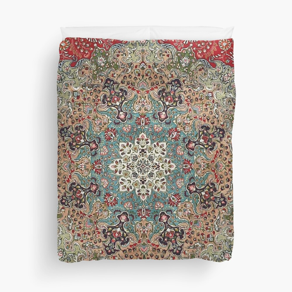 Vintage Antique Persian Carpet Print Duvet Cover