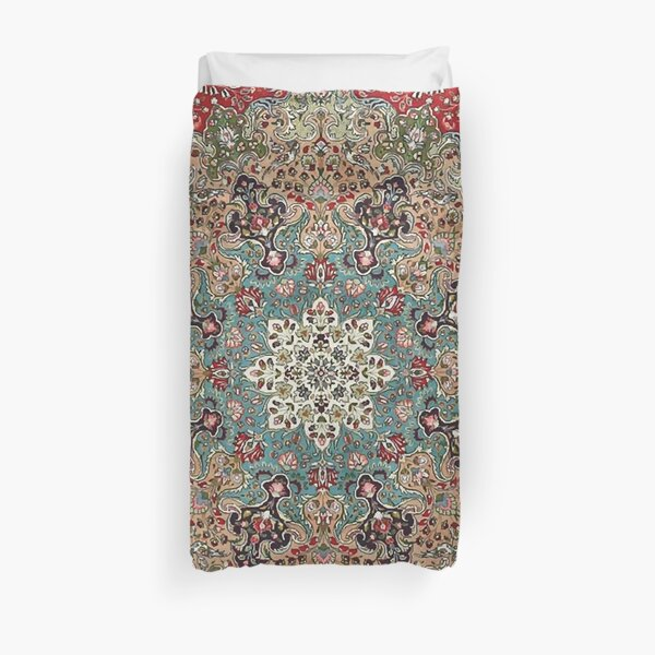 Vintage Antique Persian Carpet Print Duvet Cover