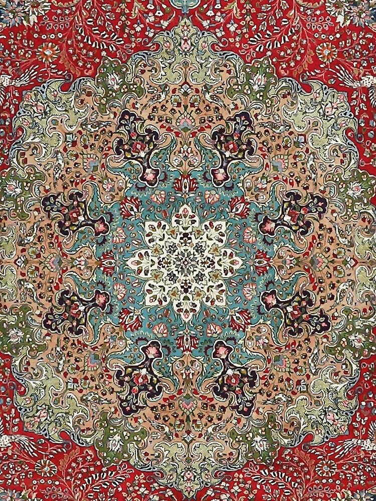 Vintage Antique Persian Carpet Print by bragova