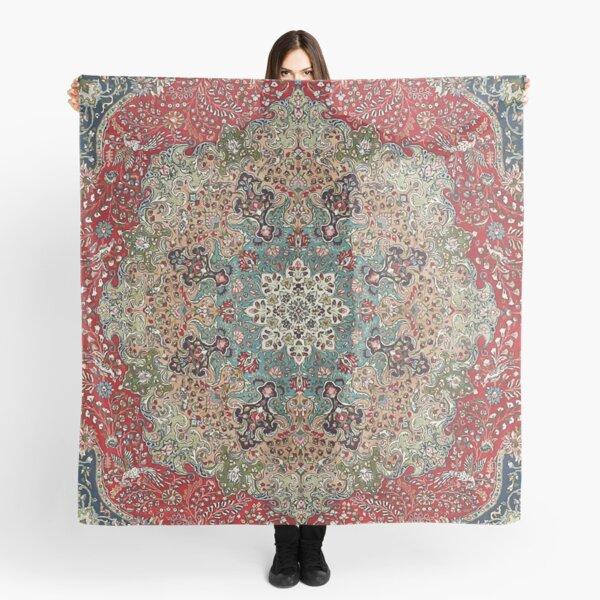 Vintage Antique Persian Carpet Print Scarf