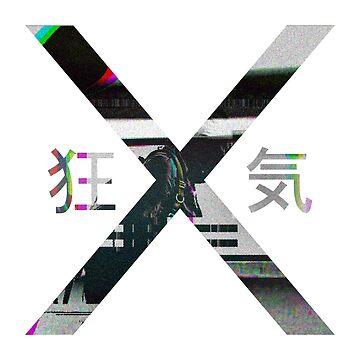 狂 X 気 - Glitched Cross by danwatts525