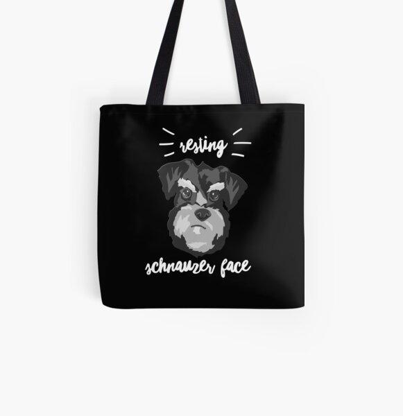 Grumpy Dog All Over Print Tote Bag
