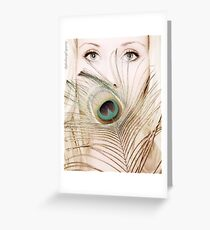 Her eyes indicate the antiquity of her soul Greeting Card
