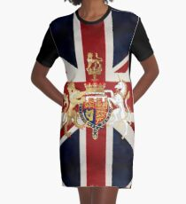 Union Jack with Windsor Insignia Graphic T-Shirt Dress