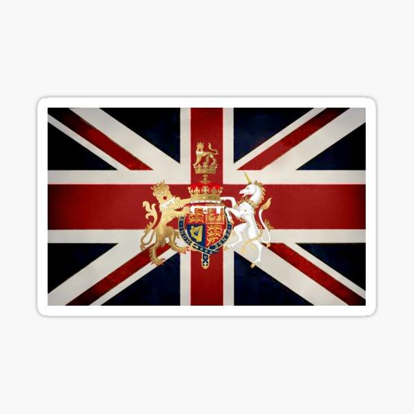 Union Jack with Windsor Insignia Sticker
