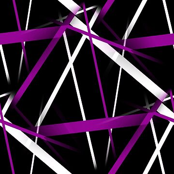 Seamless Purple and White Stripes on A Black Background by taiche