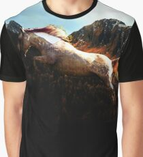 Equine Mountains Graphic T-Shirt