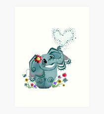 Blair the Elephant Art Print