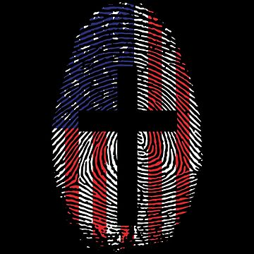 Fingerprint American Flag Cross by bigtimmystyle