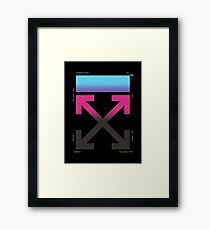 Off-White 2019 Business Casual Gradient Arrows (Dark) Framed Print