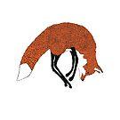 Fox jumping in the snow - Animal Illustration - Kitsune in snow scene by Davida Fernandez