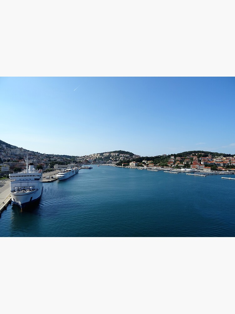 Dubrovnik sea port  Adriatic Sea by santoshputhran