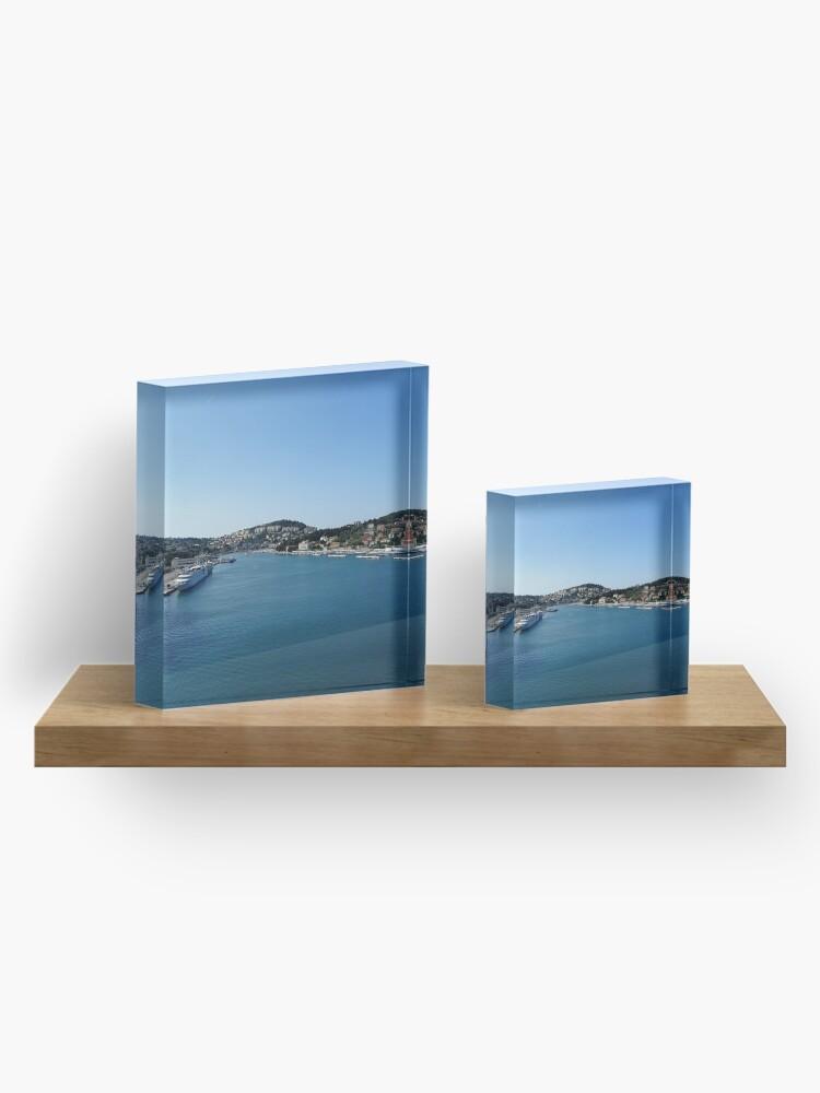 Alternate view of Dubrovnik sea port  Adriatic Sea Acrylic Block