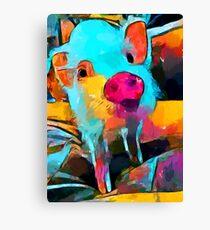 Mini Pig Canvas Print