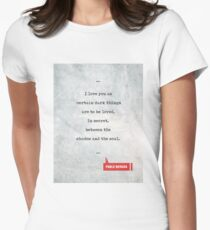 Pablo Neruda Quotes 1 - Love Quotes - Book Lover Gifts - Typewriter Quotes Women's Fitted T-Shirt