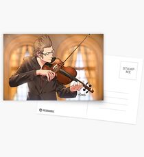 Ignis with violin Postcards