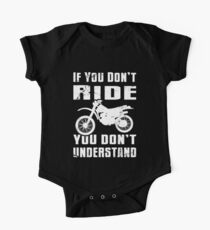 If You Don't Ride You Don't Understand MX Moto White One Piece - Short Sleeve