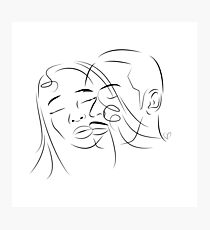 Face Love Photographic Print