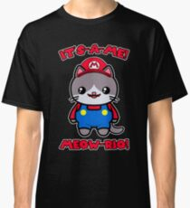 Cat Cute Kawaii Funny Mario Parody Classic T-Shirt