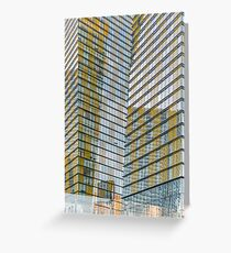 Glass and Steel Building in the Sun Greeting Card