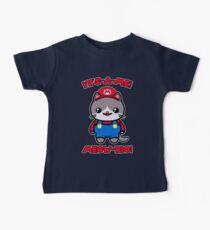 Cat Cute Funny Kawaii Mario Parody Baby Tee