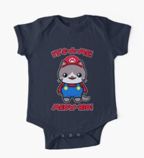 Cat Cute Funny Kawaii Mario Parody One Piece - Short Sleeve