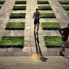 The Runners - Colour Version by JHP Unique and Beautiful Images