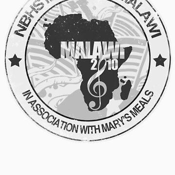 MFM Round Retro Monochrome White by MusicForMalawi