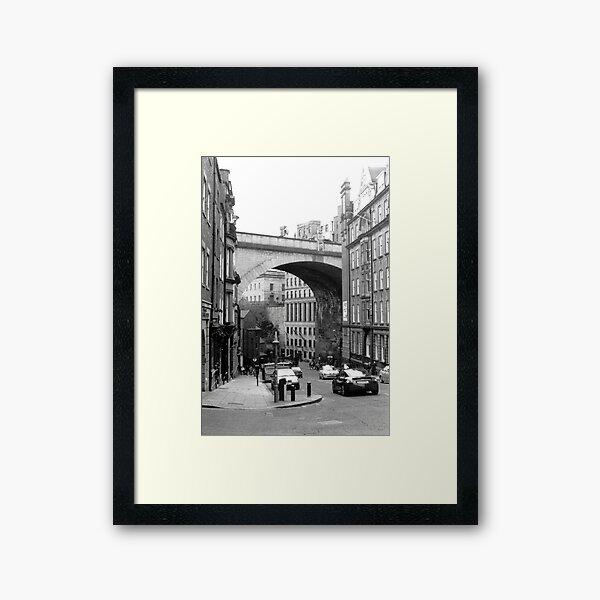 Newcastle upon Tyne, The Side Framed Art Print