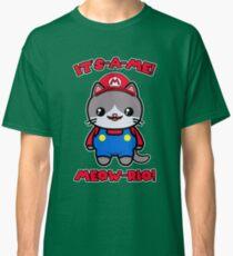 Funny Cute Cat Kawaii Mario Parody Classic T-Shirt