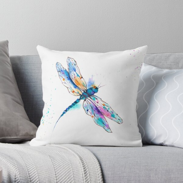 Dragonfly II.0I  Throw Pillow