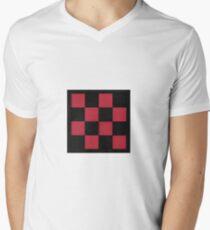 kariertes Design T-Shirt mit V-Ausschnitt für Männer