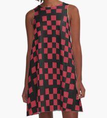 kariertes Design A-Linien Kleid