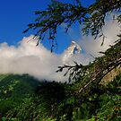 Matterhorn with clouds by Derivatix