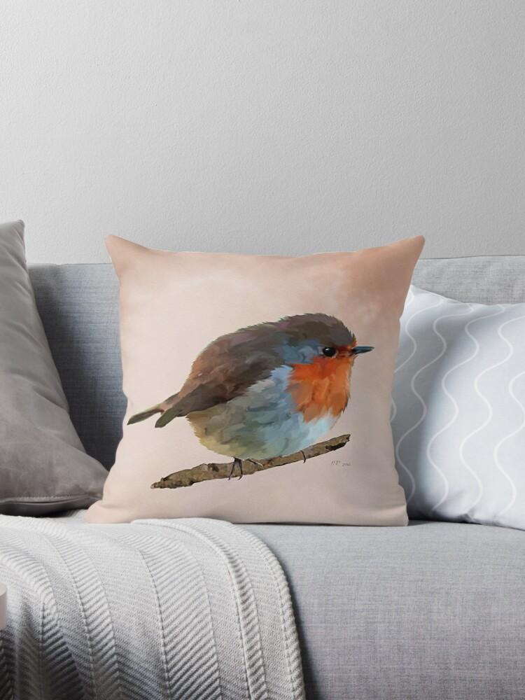 Bird: Round Robin - erithacus rubecula by Bamalam Art and Photography