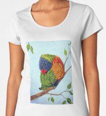 Shy Boy - Rainbow Lorikeet Women's Premium T-Shirt
