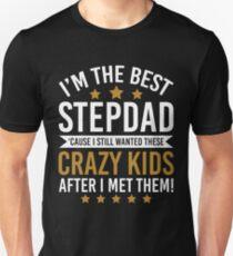Ich bin bester Schritt-Vati, weil ich noch dieses Kindert-shirt wünschte Slim Fit T-Shirt