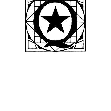 Q anon subtle logo by FrontierMM
