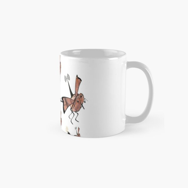 Radio controlled, robot fly, mini drone, Ornithopter pulling a bomb. Killer drones, slaughterbots, swarm. Classic Mug