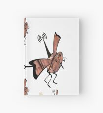 Radio controlled, robot fly, mini drone, Ornithopter pulling a bomb. Killer drones, slaughterbots, swarm. Hardcover Journal