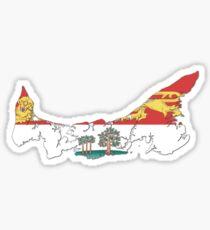 Prince Edward Island Flag Map  Sticker