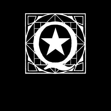 Q anon subtle star logo by FrontierMM