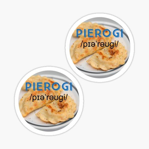 Pierogi (with pronunciation) Sticker