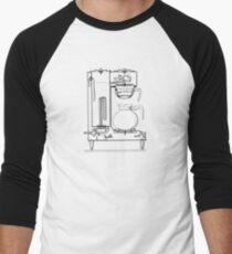 Half & half black Men's Baseball ¾ T-Shirt